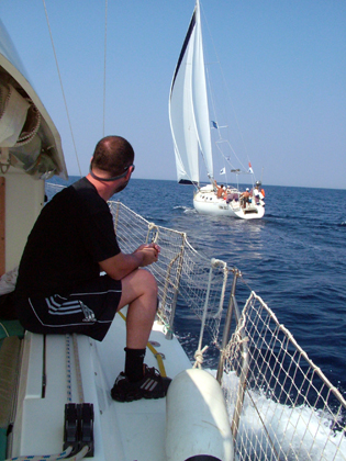 sailing in the Greek islands for people with mobility impairements