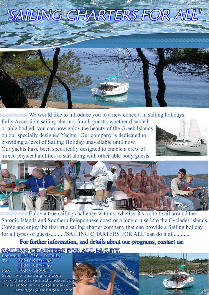 Sailing charters for all